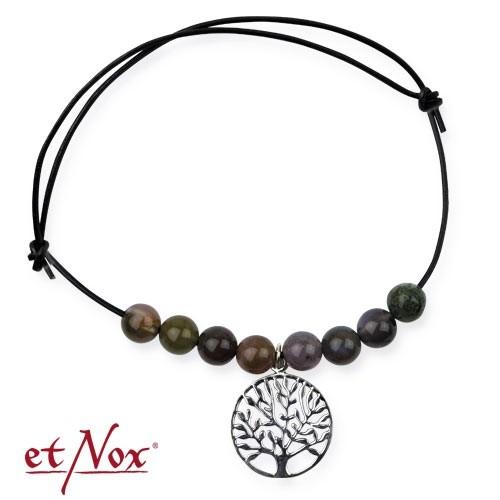 """etNox Armband """"Lebensbaum"""" mit Silberelement und echten Steinen"""