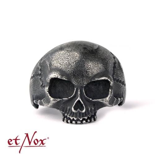"""etNox - Ring """"Gun Metal Skull"""" Edelstahl"""