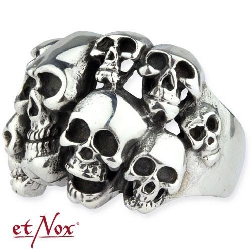 """etNox-Stahlring """"Skulls"""" Edelstahl"""