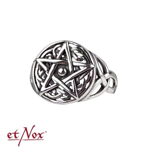 """etNox - Ring """"Celtic Pentagram"""" 925 Silber"""