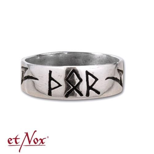 "etNox-Ring ""Thors Rune"" Edelstahl"