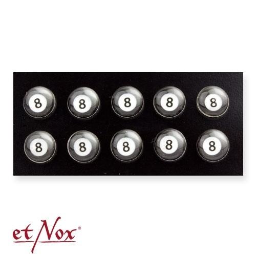 """etNox - Ohrstecker """"8 Ball"""" 925 Silber mit Epoxy"""
