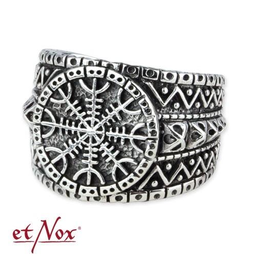 """etNox - Ring """"Eagershelm"""" Edelstahl"""