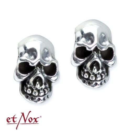 """etNox Silberohrstecker """"Evil Skull"""""""