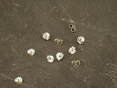 Silbergegenstecker (VE = 5 Paar)