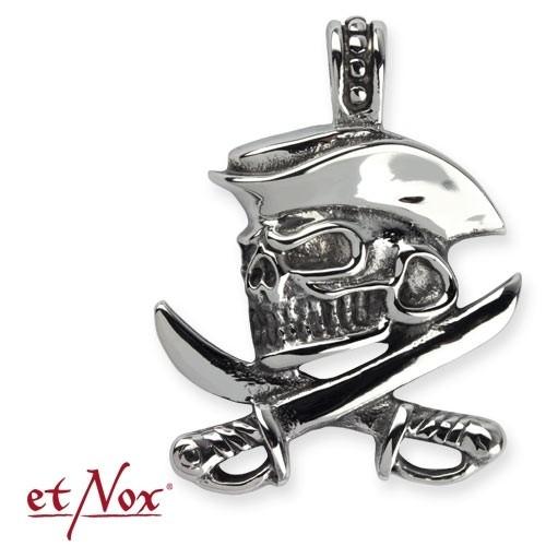 """etNox Anhänger """"Pirate Skull"""" Edelstahl"""