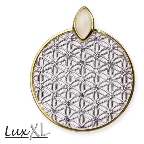 "LuxXL Silberanhänger ""Blume des Lebens"""