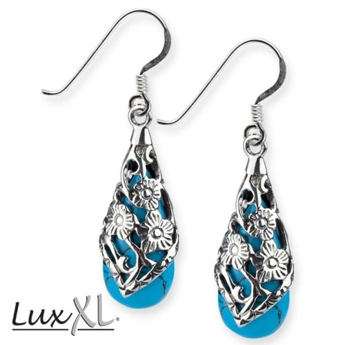 "LuxXL Silberohrringe ""Turquoise Ornament"""