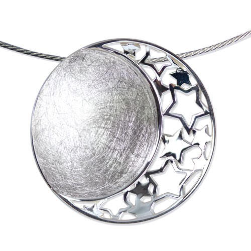"LuxXL Anhänger ""Stars and Moon"" Silber rhodiniert"