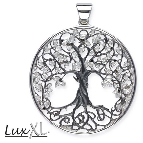 "LuxXL Anhänger ""Lebensbaum"" 925er Silber rhodiniert"