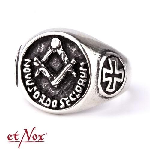 """etNox-Ring """"Freimaurer"""" 925 Silber"""