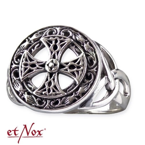 "etNox-Ring ""Silver Celtic Cross"" 925 Silber"