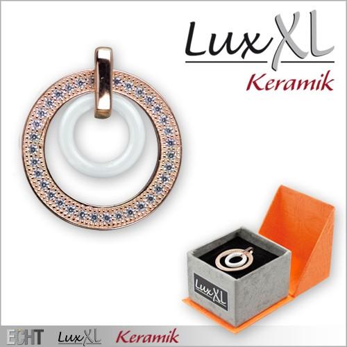 LuxXL-Keramikanhänger weiß mit Zirkonia