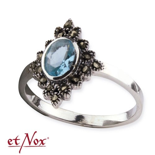 "etNox Silberring ""Blue Marcasite""mit Zirkonia"