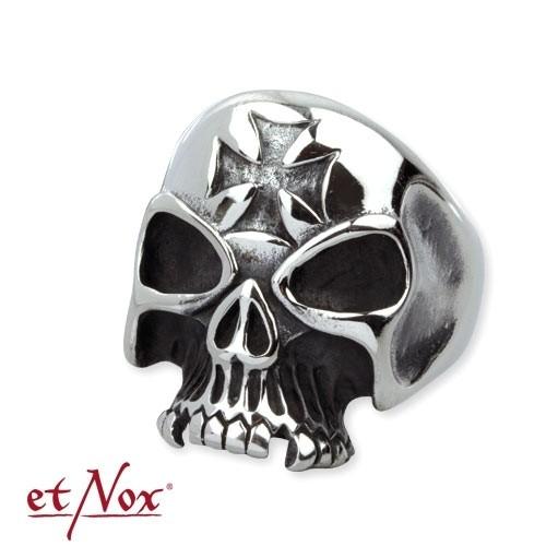 """etNox """"Iron Cross Skull"""" Edelstahl"""