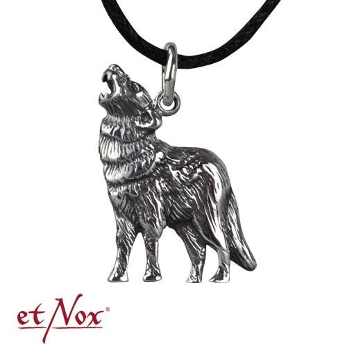 """etNox - Anhänger """"Wolf"""" 925 Silber"""