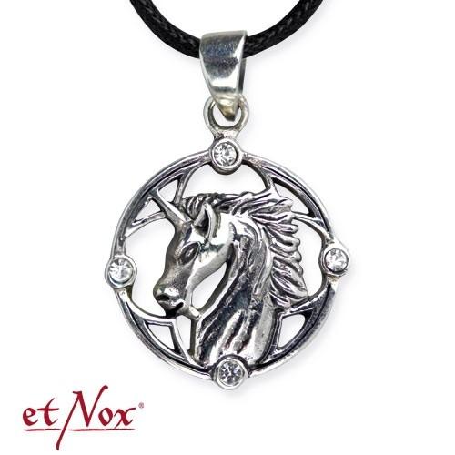 "etNox - Silberanhänger ""Unicorn""  mit Zirkonia"
